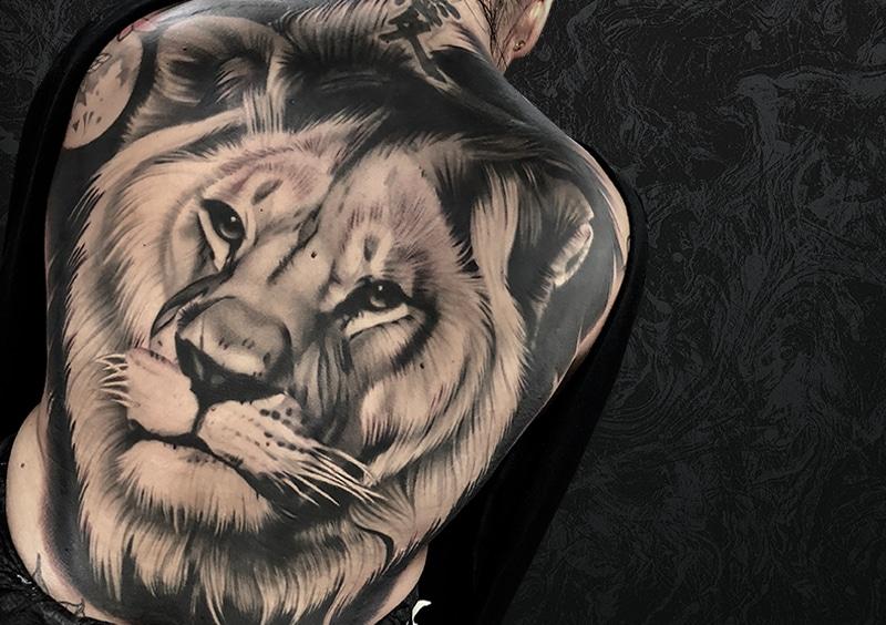 Lio Back Tattoo