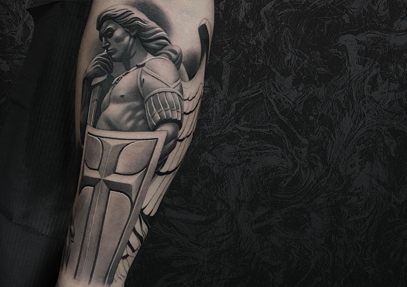 Shield Warrior Tattoo