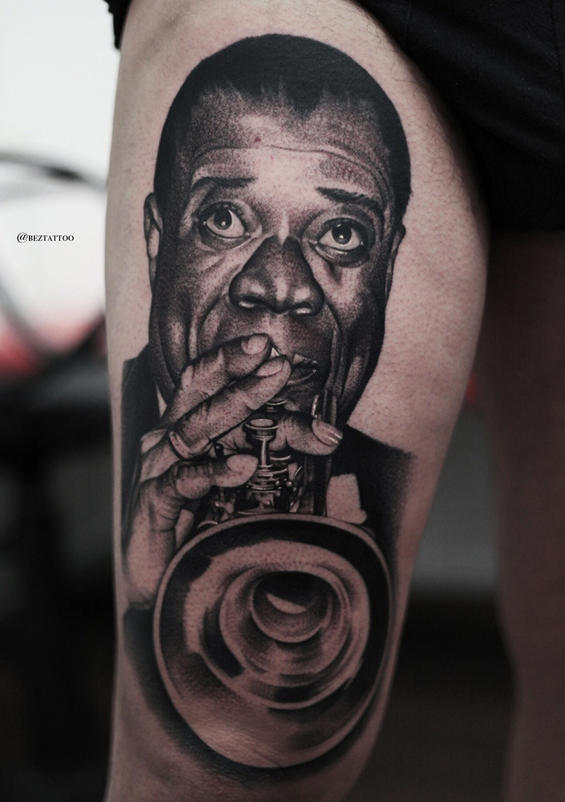 Louis Armstrong Tattoo