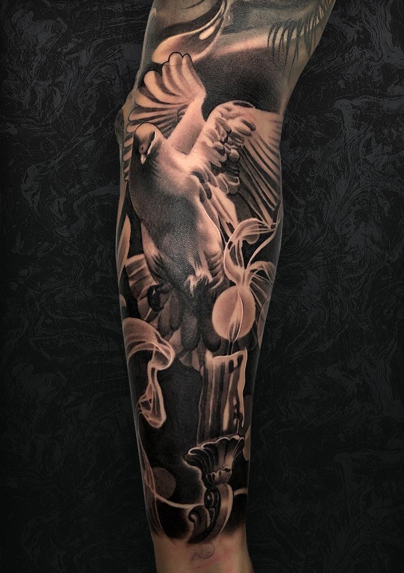 Dove Arm Tattoo