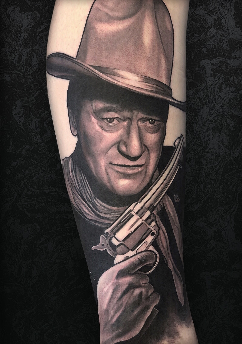 John Wayne Arm Tattoo