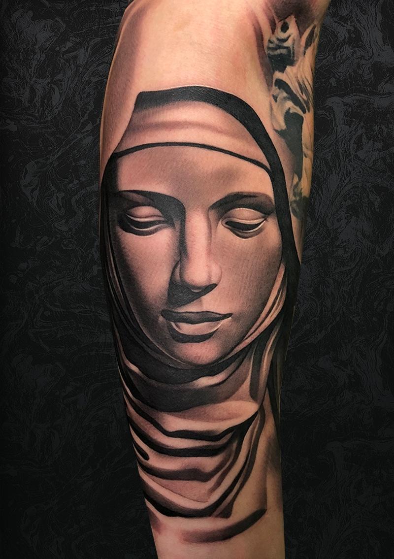 Woman Statue Tattoo